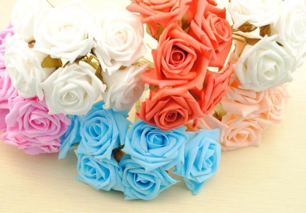36pcs-lot-7cm-PE-foam-artificial-flowers-rose-font-b-mesh-b-font-Home-deco-real