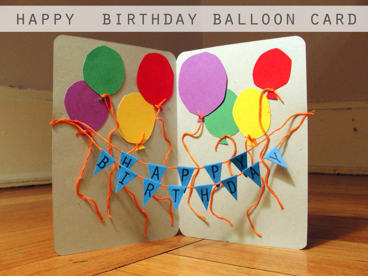 Making Birthday Card Ideas Part - 48: Happy-birthday-balloon-card-diy-craft