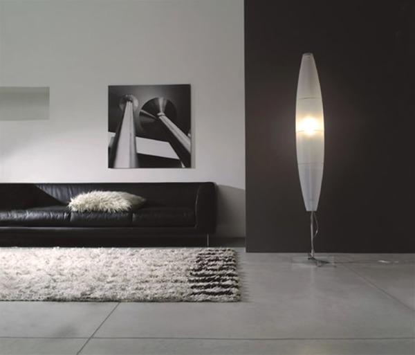 Home-Interior-Lighting-Design-with-Havana-Mono-Floor-Lamp-by-Foscarini