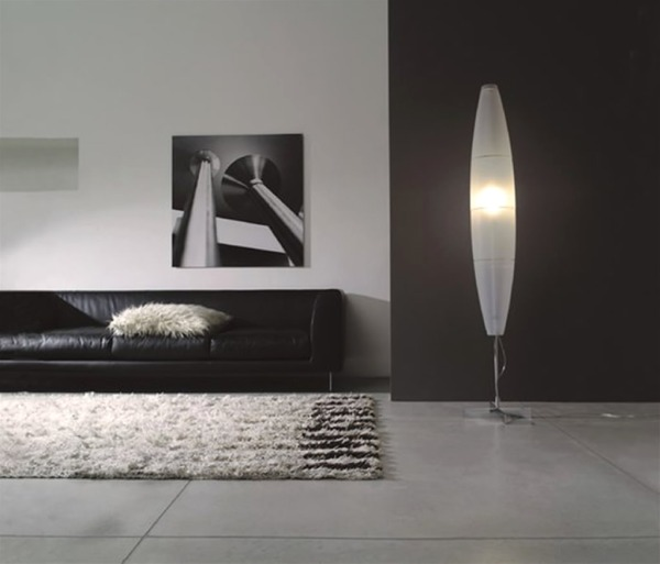 Home-Interior-Lighting-Design-with-Havana-Mono-Floor-Lamp-by-Foscarini
