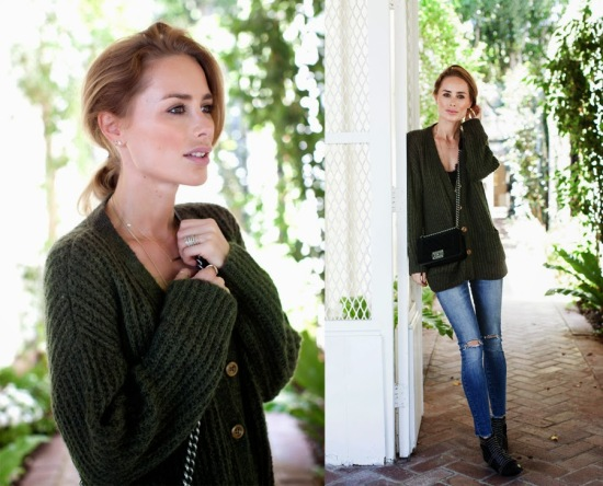army-green-cardigan-blogger-style