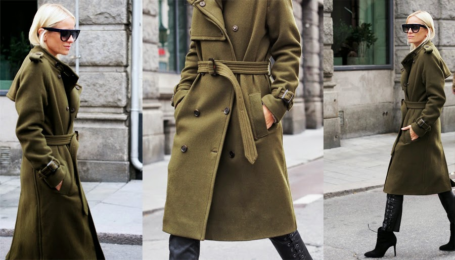 Army Green Coat Street Style I 39 M Good
