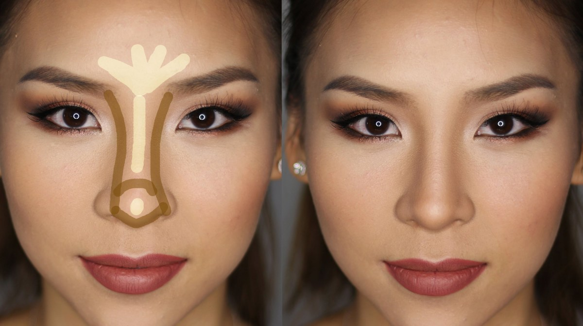 Как сделать нос маленьким визуально
